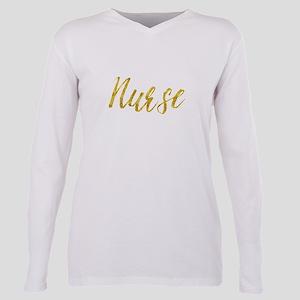 Nurse Gold Faux Foil Metallic Glitter Frie T-Shirt