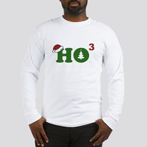 Ho Cubed Merry Christmas Long Sleeve T-Shirt