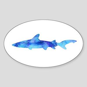 Vintage Shark Silhouette Purple Watercolor Sticker