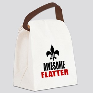 Awesome Flatter Canvas Lunch Bag