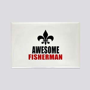 Awesome Fisherman Rectangle Magnet