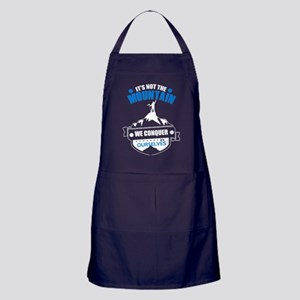 Conquer The Mountain T Shirt Apron (dark)