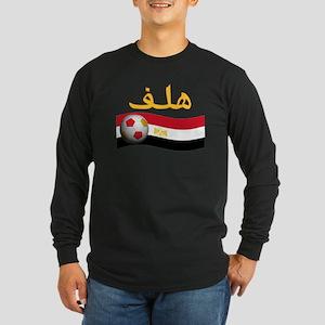 TEAM EGYPT ARABIC GOAL Long Sleeve Dark T-Shirt