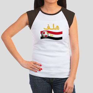 TEAM EGYPT ARABIC GOAL Women's Cap Sleeve T-Shirt