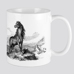 Vintage Horse Illustration - 1800s Horses Ima Mugs