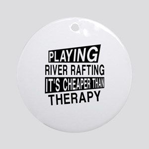 Awesome River Rafting Player Design Round Ornament