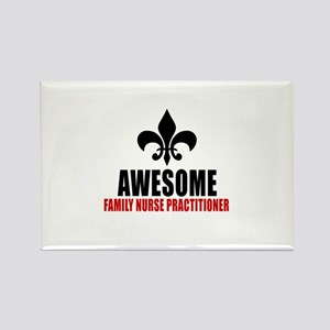 Awesome Family Nurse Practitioner Rectangle Magnet