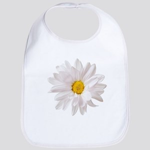 Daisy Flower White Yellow Daisies Floral Baby Bib