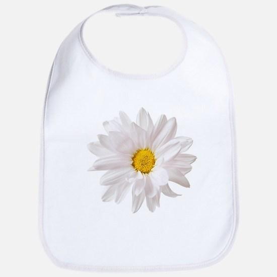 Daisy Flower White Yellow Daisies Floral Baby Bib