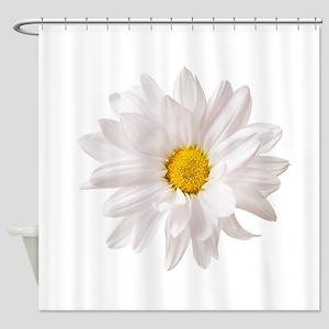 Daisy Flower White Yellow Daisies F Shower Curtain