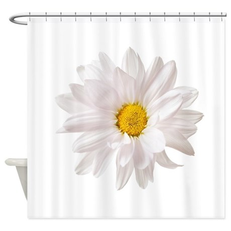 Daisy Flower White Yellow Daisies F Shower Curtain by ADMIN_CP109339564