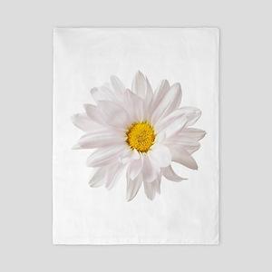 Daisy Flower White Yellow Daisies Flora Twin Duvet