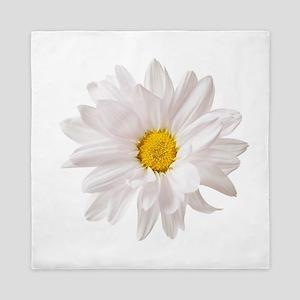 Daisy Flower White Yellow Daisies Flor Queen Duvet