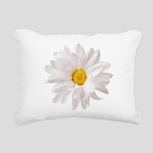 Daisy Flower White Yello Rectangular Canvas Pillow
