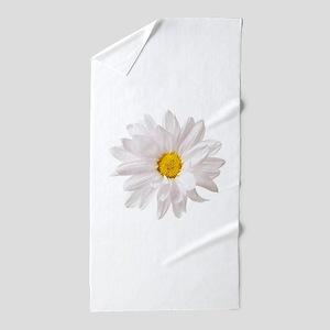 Daisy Flower White Yellow Daisies Flor Beach Towel