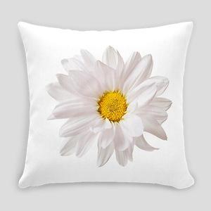 Daisy Flower White Yellow Daisies Everyday Pillow