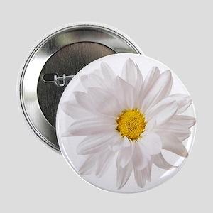 """Daisy Flower White Yellow Daisies Flo 2.25"""" Button"""