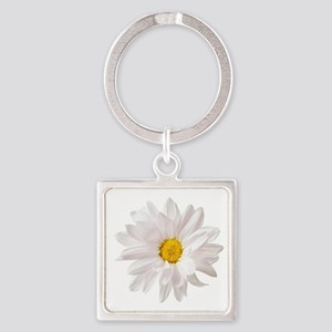 Daisy Flower White Yellow Daisies Floral Keychains