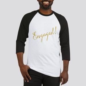 Engaged Gold Faux Foil Glitter Met Baseball Jersey