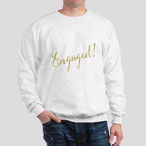 Engaged Gold Faux Foil Glitter Metallic Sweatshirt