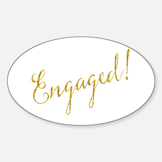 Engaged Gold Faux Foil Glitter Metallic We Decal