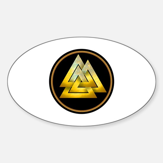 Cool Valknut Sticker (Oval)