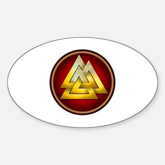 Funny Valknut Sticker (Oval)