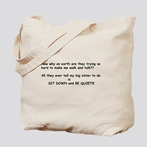 Baby Talk Sister Tote Bag