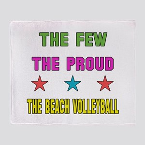 The Few, The Proud, The Beach Volley Throw Blanket