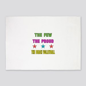 The Few, The Proud, The Beach Volle 5'x7'Area Rug