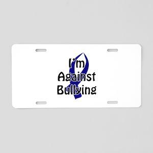 Anti-Bullying Blue Ribbon Aluminum License Plate