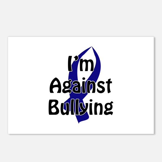 Anti-Bullying Blue Ribbon Postcards (Package of 8)