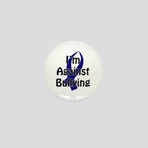 Anti-Bullying Blue Ribbon Mini Button