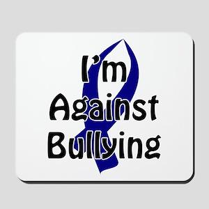 Anti-Bullying Blue Ribbon Mousepad