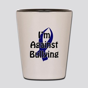 Anti-Bullying Blue Ribbon Shot Glass