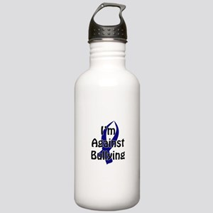Anti-Bullying Blue Ribbon Water Bottle
