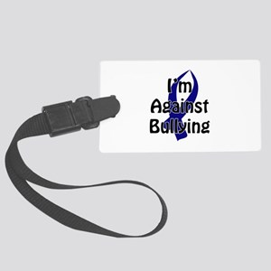 Anti-Bullying Blue Ribbon Luggage Tag