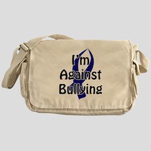 Anti-Bullying Blue Ribbon Messenger Bag