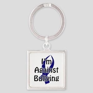 Anti-Bullying Blue Ribbon Keychains