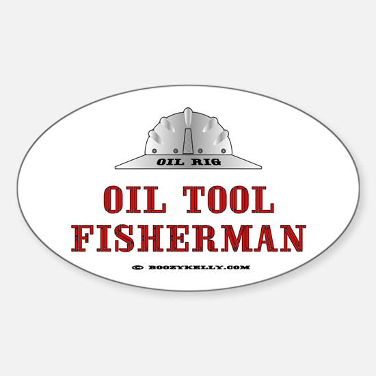 Oil Tool Fisherman Oval Decal