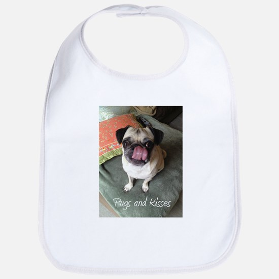 Pugs and Kisses 2 Baby Bib