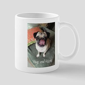 Pugs and Kisses 2 Mugs