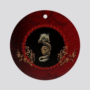 Awesome dragon Round Ornament