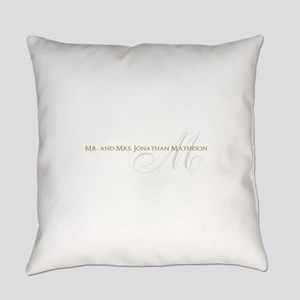 Name and Monogram Design Everyday Pillow
