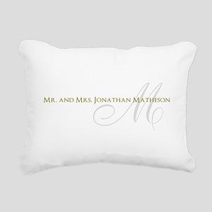 Name and Monogram Design Rectangular Canvas Pillow