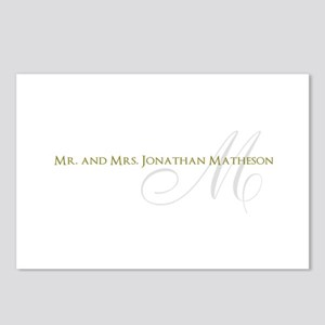 Name and Monogram Design Postcards (Package of 8)