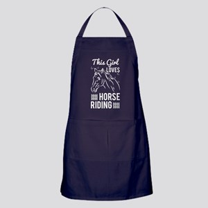 Girls Love Horse Riding T Shirt Apron (dark)