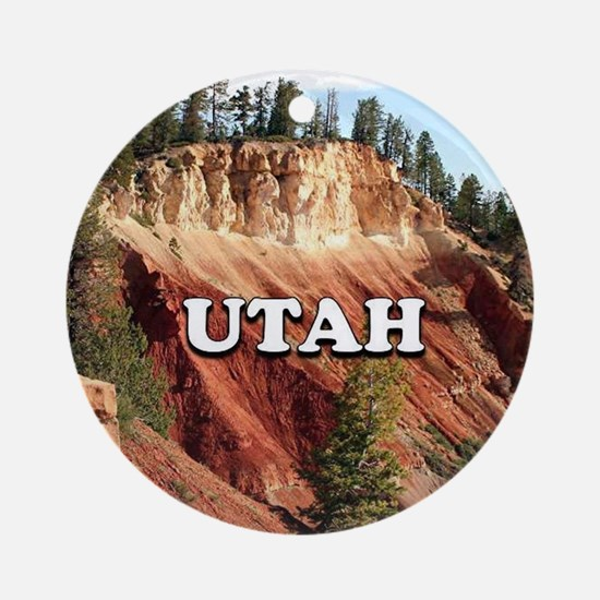 Utah: Bryce Canyon National Park, U Round Ornament