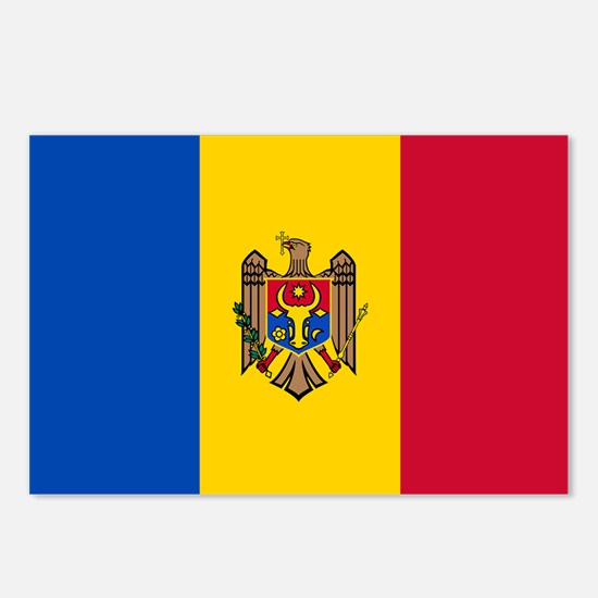 Flag of Moldova Postcards (Package of 8)