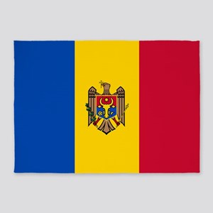Flag Of Moldova 5'x7'area Rug